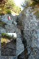 Aber auch auf der leichteren Route durch die Latschengassen waren kleinere unproblematische Felspassagen zu überwinden.