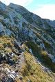 Nachdem wir auch diesen Felsaufschwung überwunden hatten, wurden wir mit dem ersten Blick auf das Gipfelkreuz belohnt.