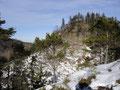 Ich konnte dabei auf der linken Seite des Steiges den Weg Richtung Kleiner Sonnstein erkennen.