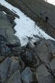 … einer weiteren kurzen Kletterstelle ab.