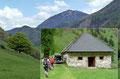 Besonders traumhaft eingebettet in die Almlandschaft präsentierte sich das steinerne Gemäuer der alten Blumaueralm (762m). Die freundlichen Bewirtschafter winkten uns schon vom weitem herzlich herein.