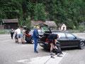Samstag, 13.06.2009, Kohlstatt bei Ebensee. Aufbruch zu unserer bislang längsten Bergtour. Einmal quer übers Höllengebirge vom Traunsee zum Attersee.