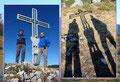 Einladend wirkten auch die Impressionen beim Posieren am Gipfelkreuz.