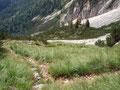... machte der Wandersteig eine Rechtskurve und schlängelte sich in vielen, kleinen Serpentinen den Berghang empor.