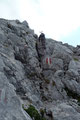 Kurz darauf folgte nochmals eine leichte ungesicherte Kletterstelle (I), bevor …