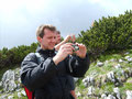 ... und Thomas legte sogar seine warme Thermojacke an. Wie man auf diesem Foto sehen kann wurde sehr viel fotografiert.
