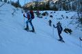 Am Beginn des steilen Galtweißhorn.