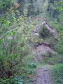 … zum Talschluss mit dem kleinen Wasserfall.  Vor uns war die erste Steilstufe schon erkennbar.