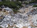 Der Weg in diesem Gelände war sehr steinig ...