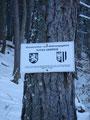 Ein kleines Schild zeigte uns, das dies wieder ein Wasserschon- und Widmungsgebiet des Toten Gebirges sei.
