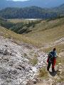 Nach einer kurzen Gipfelrast führte unser Abstieg über die Winterroute, ...