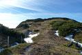 … immer flacher werdend Richtung Gipfel des Sonnleitenkogel höher. Leider war dieser Xeis-Gipfel mit keinerlei Wahrzeichen geschmückt und somit …