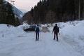 … zu unserem Ausgangspunkt, wo eine 9 stündige Schneeschuhwanderung sein Ende fand. Na ja, nicht ganz!