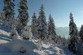 … geradewegs höher durch Frau Holles Winterwonderland.
