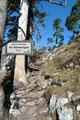 … einem Grat ( 970m) hinauf.