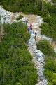 Aber auch unzählige vor uns liegende Gleichgesinnte konnten erspäht werden. Der Wächter des Stodertals, sei ein einsamer Gipfel, heißt es immer. Von wegen!!!