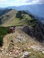 Am Grat der Kahlwandspitze entlang gings rasch vorbei ...