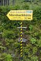 """… sondern folgten der Beschilderung zur """"Mörsbachhütte (1303m)""""."""