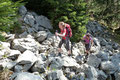 Unbeirrt setzten wir unseren Bergtrip weiter fort. Einige zu überwindende Felsblöcke sorgten in diesem Streckenabschnitt für eine interessante Abwechslung.