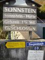 """... und los gehts auf unseren Hausberg den """"Kleinen Sonnstein"""""""