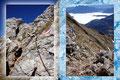 … und schon waren wir bei einer Art Kamin angekommen. Unter  Zuhilfenahme einer Eisenkette meisterten wir auch diese Hürde mit Bravur.  Ebenfalls Zeit um auch mal kurz zurück zu blicken auf die anderen Bergwanderer die uns verfolgten.