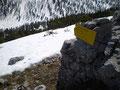 Über die rechte Flanke des Eiserne Bergl führt auch ein alpiner Klettersteig der Kat. 1+ talwärts, den wir aber heute nicht als Abstiegsweg wählten.
