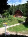 ... erreichten wir die Jagdhütte Karstube.