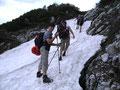 Das Gelände wurde an diesem Punkt steiler und man musste schon aufpassen ...