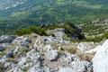 … so stiegen wir mit erhöhter Vorsicht den luftigen Grat bergwärts.