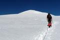 … drehten wir schlussendlich direkt auf die weiße Gipfelpyramide zu.