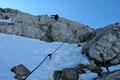 Konzentriert handelten sich unsere 3 Seilschaften entlang der Drahtseilversicherung dem höchsten Gipfel von Oberösterreich und Steiermark zielstrebig weiter entgegen.