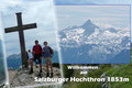 """Nur wenige Minuten später hieß es …! Wie schon aus der Ferne gut erkennbar war, belagerten unzählige """"Wanderer"""" den begehrenswerten Salzburger Gipfel. Ein Gipfelbild ohne Gleichgesinnte war hier schier unmöglich."""