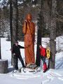 ... so war rechts des Weges eine riesige Chiristus Statue aufgestellt. So nahe an Gottes Seite waren Angela und ich noch nie.