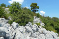 Glücklich vom Gipfelerfolg kletterte ich über die zerklüfteten Felsen zurück und …