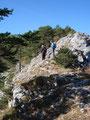 ... zurück über den ausgesetzten Gipfelgrat