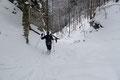 Doch eines möchte ich hier nochmals anmerken: Diese Route durch die steile Rinne sollten nur passionierte Schneeschuhgeher nachgehen!