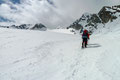 Mittlerer Löcherferner mit Blick auf den K2-Gipfel