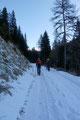 In einem Linksbogen lotste uns die Straße am Gehöft (1222m) vorbei und leitete nach der kurz darauffolgenden Rechtskehre beinahe geradlinig in NO-Richtung entlang des Lerchbaches höher.