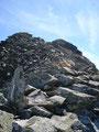 Ich wanderte – kann man hier gar nicht mehr sagen! Ich stieg trittsicher, wie eine Bergziege von Stein zu Stein – von Block zu Block, schon fast weglos zum Gipfel auf.