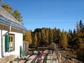 ... und die ersten Sonnenstrahlen des Tages erreichten uns beim Ebenseer Hochkogelhaus.