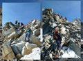 Aber zuerst erfolgte nochmals eine leichte Kletterei in eine kleine Scharte hinunter, bevor wir an der gegenüberliegenden Seite wieder steil nach oben kraxelten und …