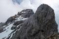 """Ab hier begann der gestufte """"Felsenweg"""" des Westgrates zum Dachstein-Gipfel."""