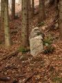 ... wie so oft begleitet nur von Steinmännchen auf unseren Bergtouren.
