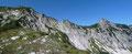 Ein Blick hinüber zum Grat zwischen den Bergzwillingen ließ jetzt schon einen interessanten Routenverlauf erahnen.