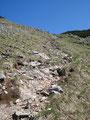 Aber jetzt ging es wieder zur Sache! Über schroffes Gelände führte uns der Steig den Hang bergwärts.