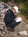 Noch ein paar nette Zeilen für meine Bergfreunde ins Gipfelbuch geschrieben ...