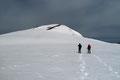 Nach diesem ca. 120m Anstiegs gelangte unser Quintett auf die darüber liegende Anhöhe am Fuße des ungeschmückten Haldenstein-Gipfels (2074m).