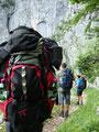Nicht gerade leicht bepackt schlenderten wir unaufhörlich dem Ende der diesjährigen Bergtour entgegen.