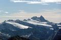 Wie hier zum Bespiel auf den Großglockner (3798m), den höchsten Gipfel Österreichs.