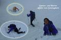 Die Stimmung jedenfalls war keineswegs getrübt, sondern sogar bombastisch! Wir hatten trotz mehrfachem Schneekontakt jede Menge Spaß beim Tele-Skiing